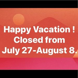 Closet Closed for Vacation!